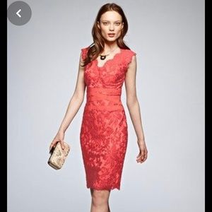 Tadashi Shoji Petite Coral Lace Dress